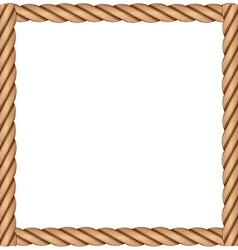 A frame made of rope vector