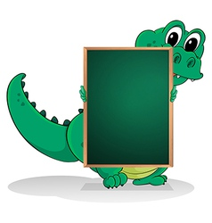 A small crocodile at the back of an empty vector image
