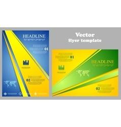 Abstract bright tech flyer design vector