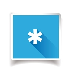 Asterisk sign or asterisk icon vector image