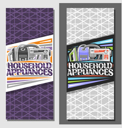 Banners for household appliances vector