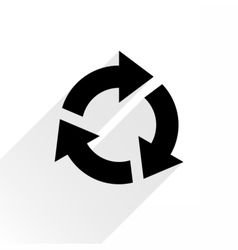 Black arrow icon refresh sign on white background vector image