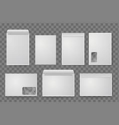 blank white paper c4 envelope set vector image