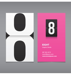 business card number 8 vector image