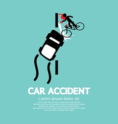 Car Accident With Bicycle vector