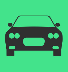 Car flat icon on background vector