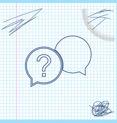 chat question line sketch icon isolated on white vector image