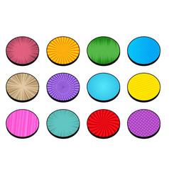 Comic circles bright collection vector