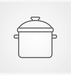 cooking pot icon sign symbol vector image