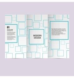 cover set square background Modern design vector image