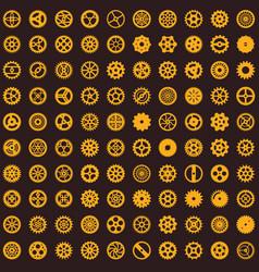 creative steampunk seamless texture design vector image