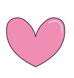 Cute heart to love symbol design vector