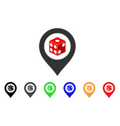 dice map pointer icon vector image