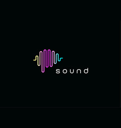digital audio equalizer logo sound waves emblem vector image