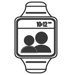 digital watch icon vector image
