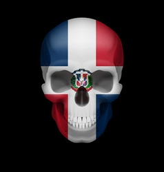 Dominican republic flag skull vector