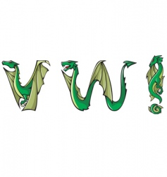 Dragons Alphabet vw and vector