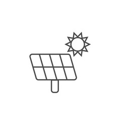 ecology concept eco solar battery panel icon vector image