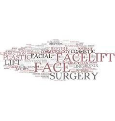 Facelift word cloud concept vector