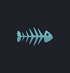 Fish skeleton computer symbol vector