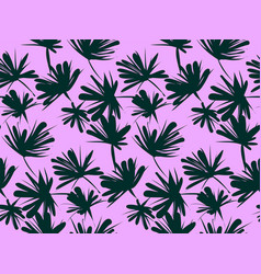 floral seamless pattern with tropical leaves vector image