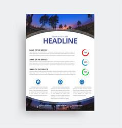 Flyer format a4 format design a cover vector