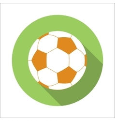 Football flat icon vector