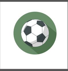 football soccer ball icon vector image vector image