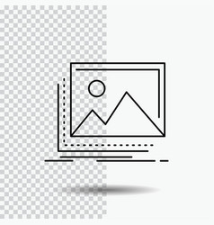 Gallery image landscape nature photo line icon on vector