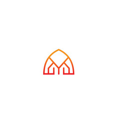 Gate arch building company logo vector