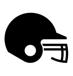 glyph beautiful baseball helmet icon vector image