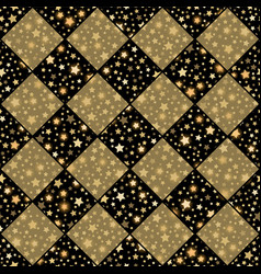 gold and black seamless chess styled vintage vector image