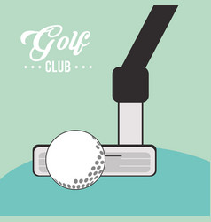 Golf club ball sport vector