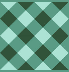 green checkered diagonal seamless background vector image