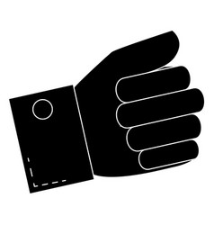 Hand taking isolated icon vector