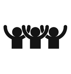 Happy audience icon simple style vector