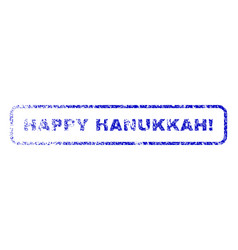 Happy hanukkah exclamation rubber stamp vector