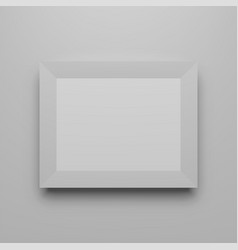 Horizontal photo frame realistic template vector