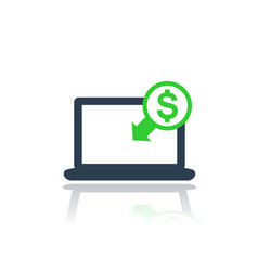 internet banking payments icon vector image