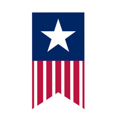 isolated american banner vector image