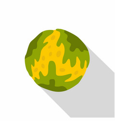 Little planet icon flat style vector
