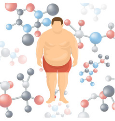 Losing weight genetic problems vector