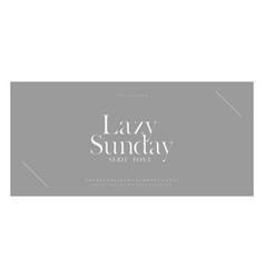Luxury sans serif alphabet letters font vector