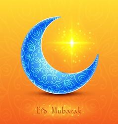 Moon for Muslim Community Festival Eid Mubarak vector image