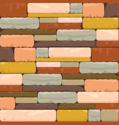 Multicolor brick textured background with varied vector