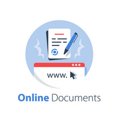 Online government services submit document vector
