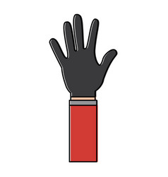 open hand showing five fingers vector image