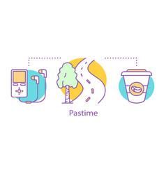 Pastime concept icon vector