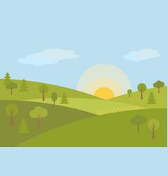 pattern landscape vector image