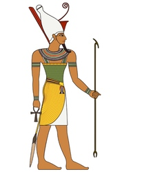 Pharaoh egyptian ancient symbol isolated figure vector